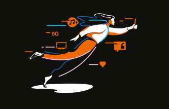 illustration 5G fibre orange