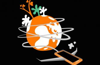 illustration planete orange