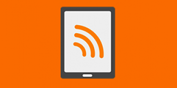 Illustration tablette et ondes wifi - Hotspots Wifi Orange